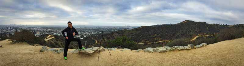 Thumbs up for Runyon Canyon