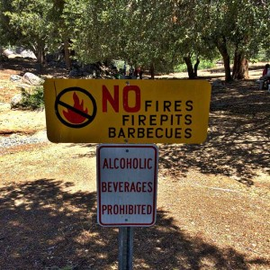No booze in the picnic area, kids.
