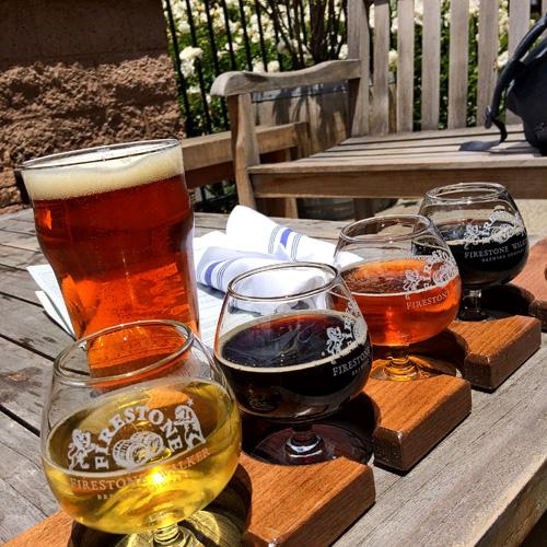 Beer break at Firestone Walker Brewery