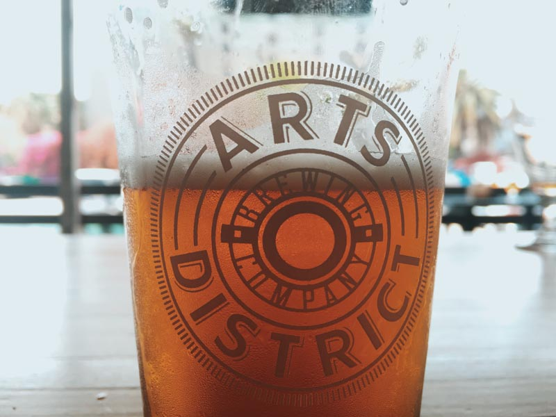 arts district brewing company beer